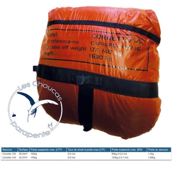 Parachute de secours INdependence Cornetto 100 et 140